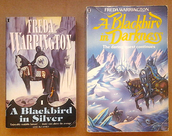 A Blackbird in Silver & A Blackbird in Darkness - Freda Warrington (käytetyt)