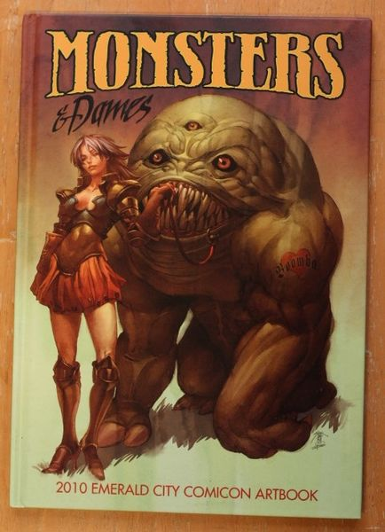 Emerald City Comicon 2010 Monsters and Dames Art Book (Hardcover) (käytetty)